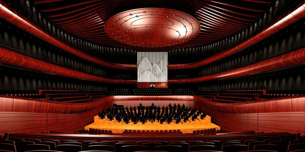 © Konior Studio; Grand concert hall of the NPRSO's seat
