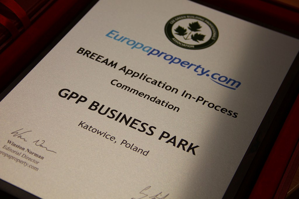 © GPP; Commendation of CEE Green Building Awards for GPP Business Park