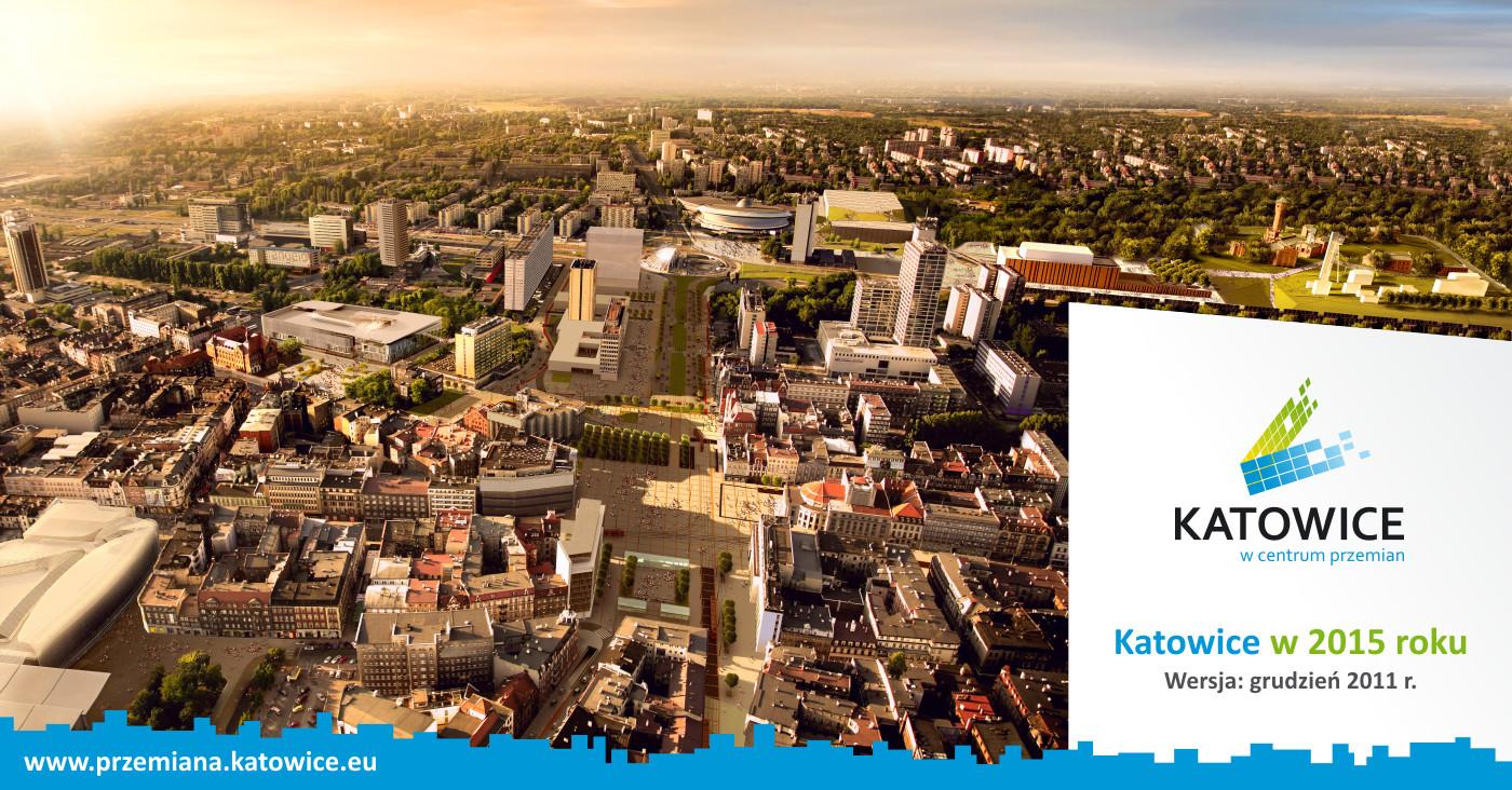 © City Hall of Katowice, City Center of Katowice in 2015