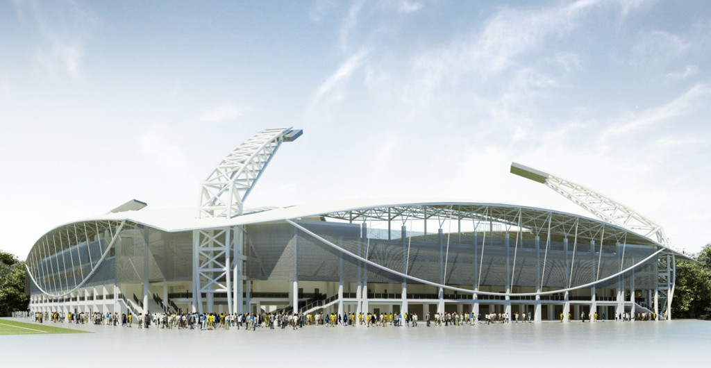Two Design Projects Of Gks Katowice Stadium Katowice The