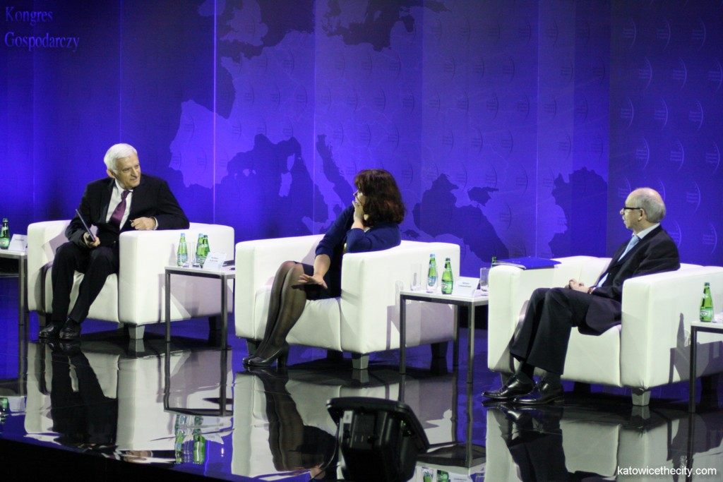 4th European Economic Congress, L to R: Jerzy Buzek, former President of the European Parliament; Barbara Kudrycka, Minister of Science and Higher Education; Janusz Lewandowski, European Commissioner responsible for the budget