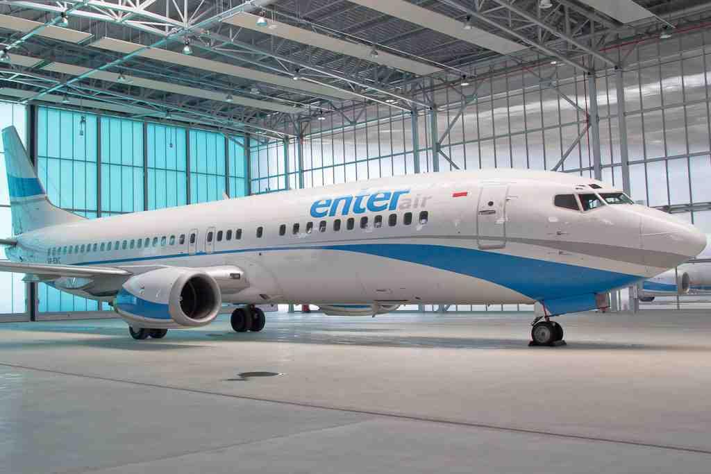 © Upper Silesian Aviation Group; aircraft in the new maintenance hangar at Katowice International Airport