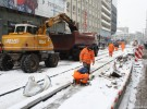 Advanced stage of track works in City Center