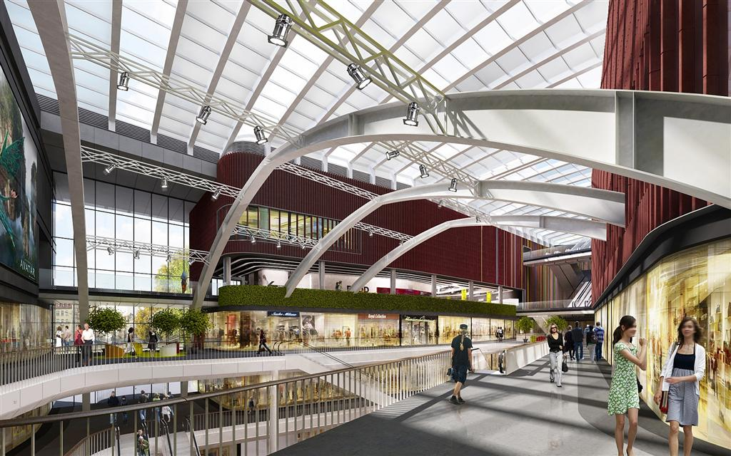 © Griffin Group; interiors of Supersam and four spans to be preserved in the new building