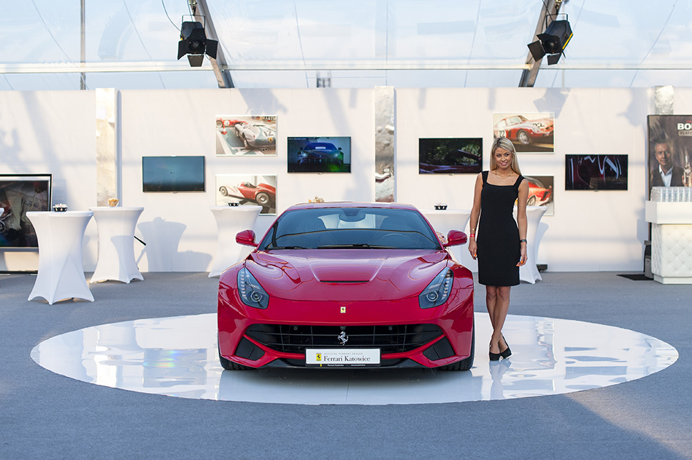 Opening of the Ferrari Katowice showroom, photo by Anna Domańska