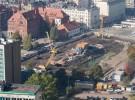 Katowice construction sites on photos