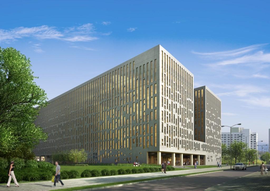 © LC Corp; office project along Roździeńskieg Av.