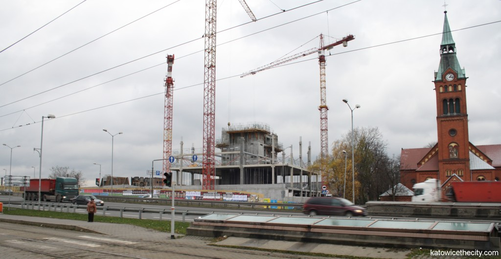 Silesia Business Park - first building under construction