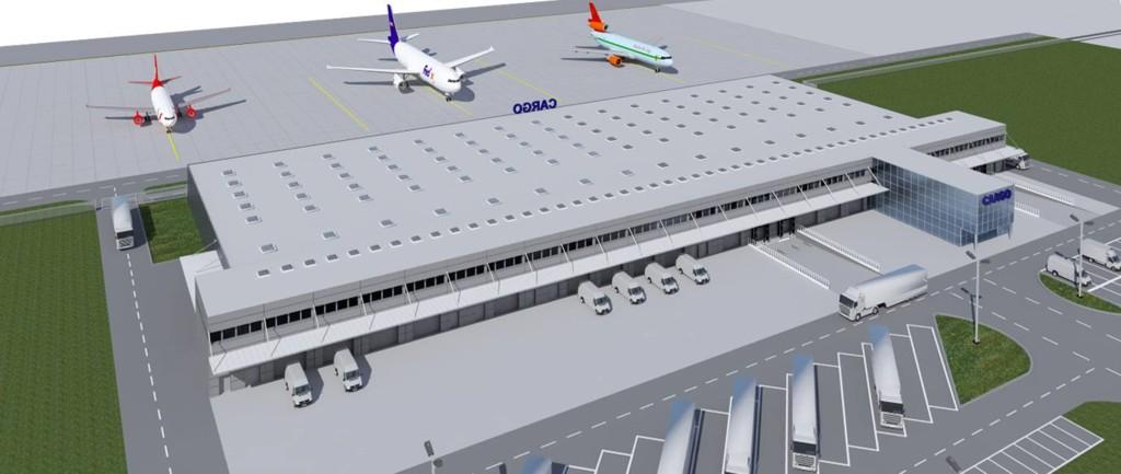 © Katowice International Airport; planned cargo terminal (visualization by Budoprojekt)