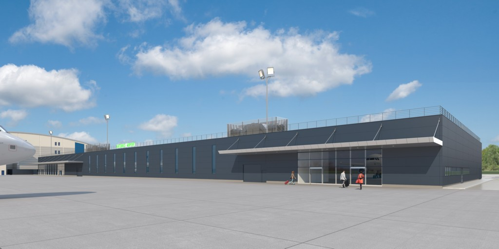 © Upper Silesian Aviation Group; visualization of the arrivals terminal