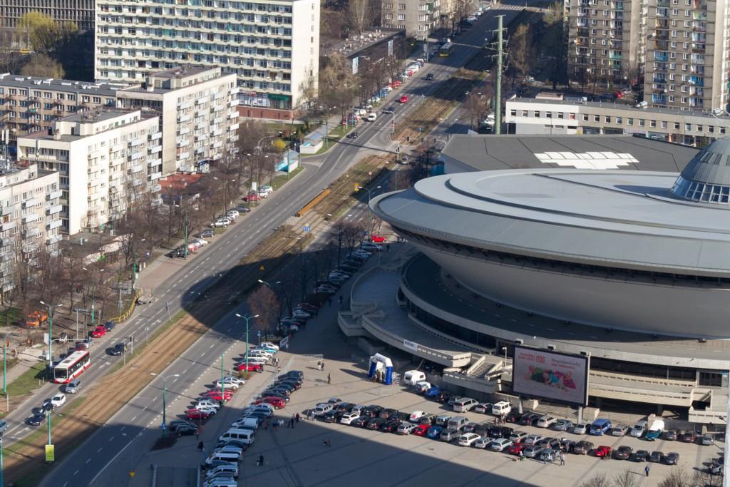 © City Hall of Katowice; Korfantego Av. - tram section between the Roundabout and