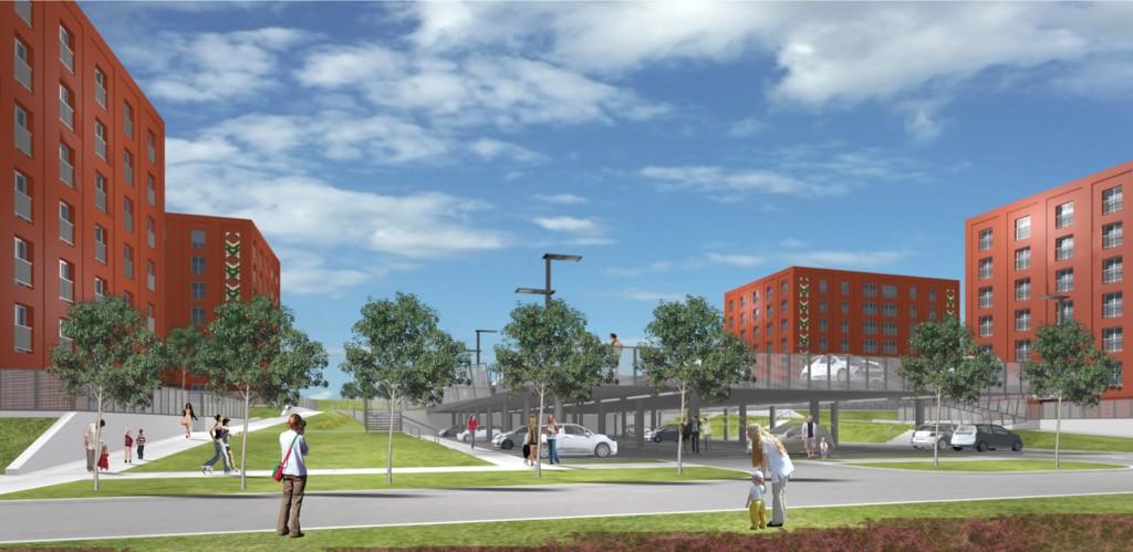 © Katowickie Towarzystwo Budownictwa Społecznego; new housing scheme on Sławka St.