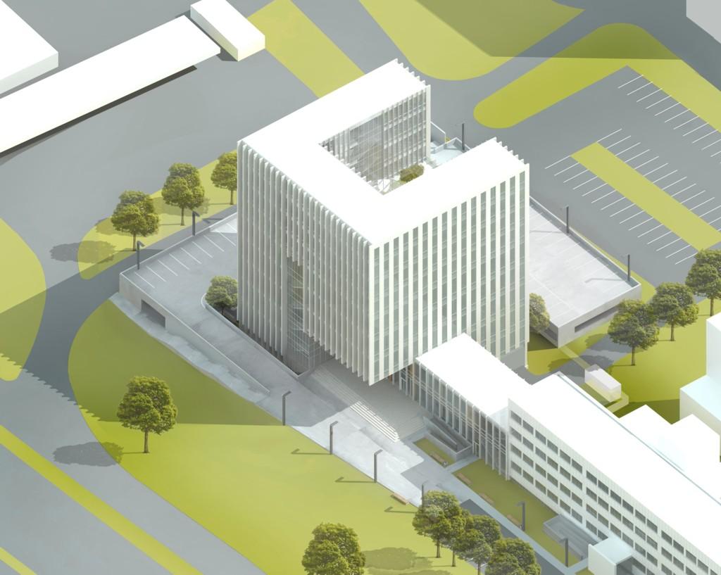 © Wojciech Gęsiak Studio Architektoniczne; concept design of the new seat of the District Court Katowice-Wschód