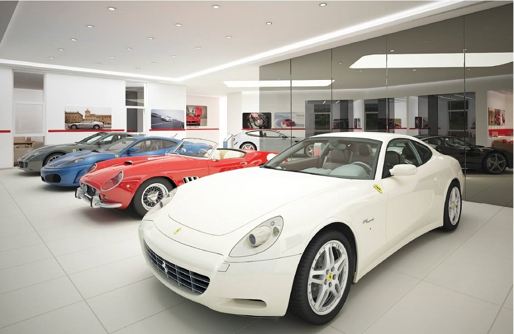 © Ferrari Katowice; extension of the showroom