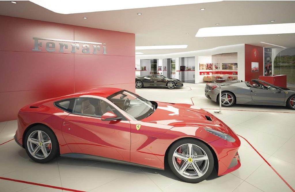 © Ferrari Katowice; extension of the showroom
