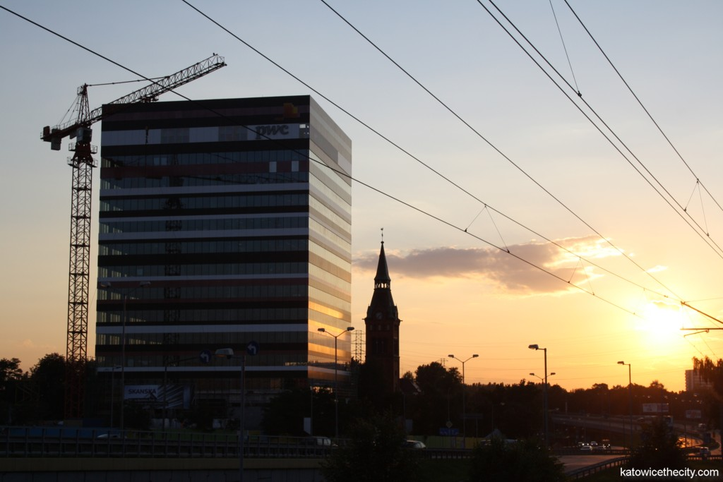 Elevation of the first building of Silesia Business Park