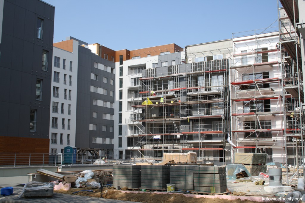 Francuska Park under construction