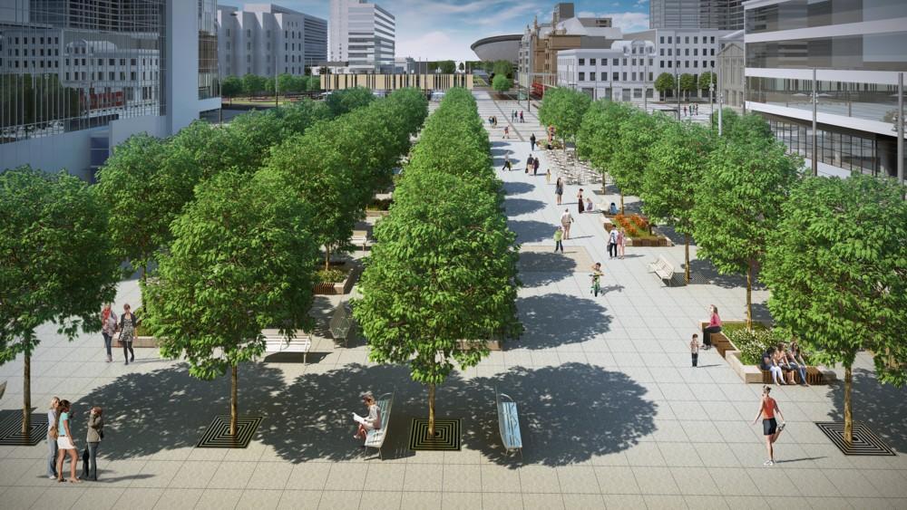 © City Hall of Katowice: visualization Flower Sq.