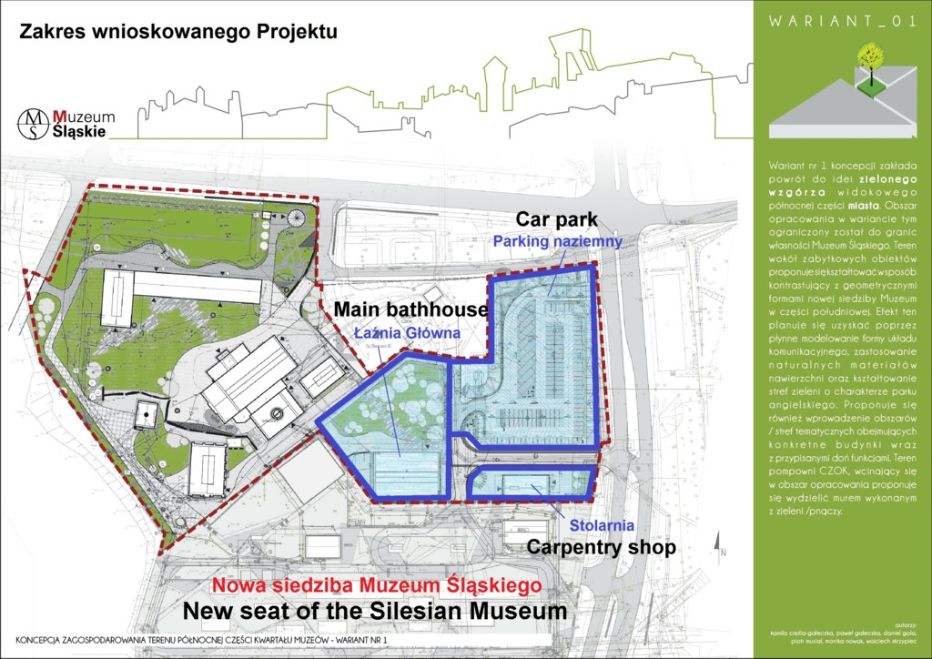 © Silesian Museum; new buildings of Silesian Museum, map of the area
