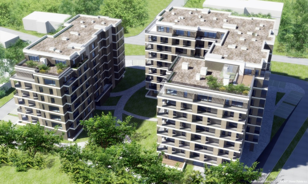 © JHM Development; first stage of the Twoja Dolina housing estate