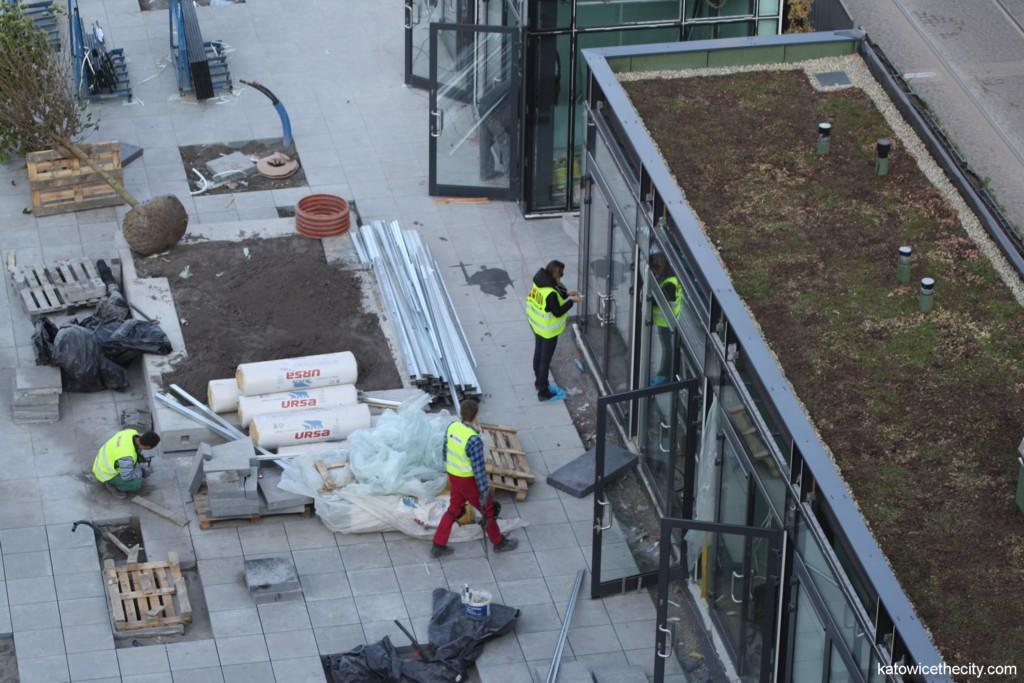 Construction work on Flower Sq.