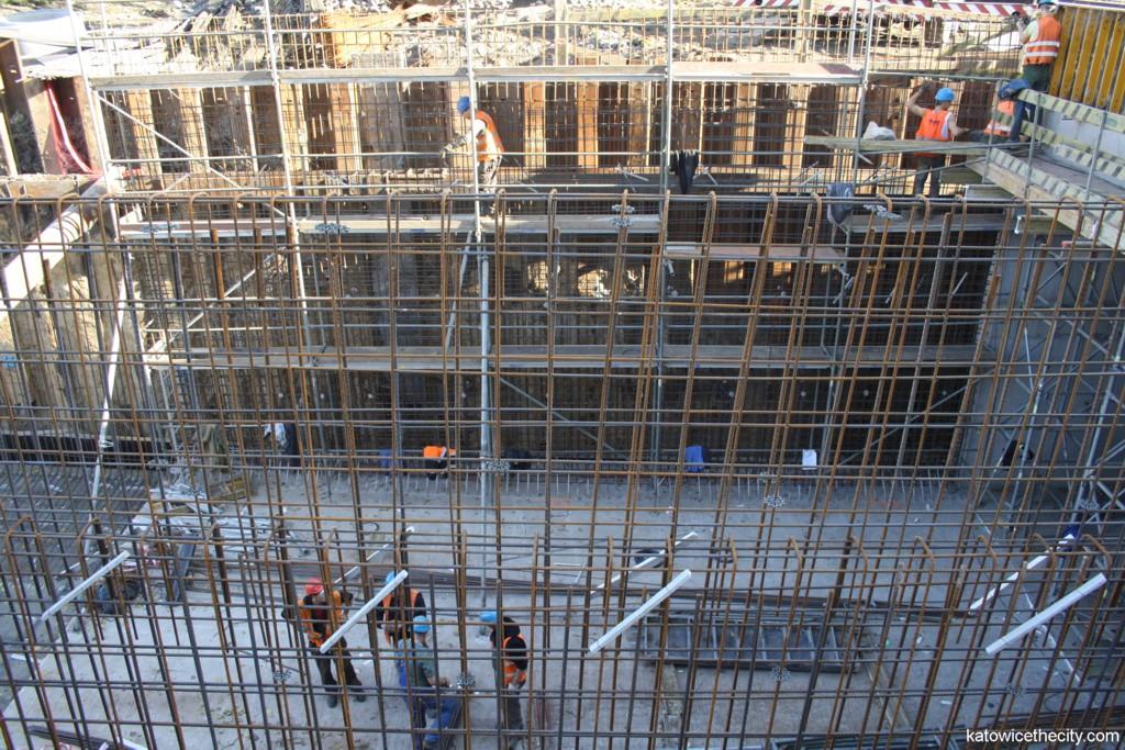 Construction work on Śródmiejska St.