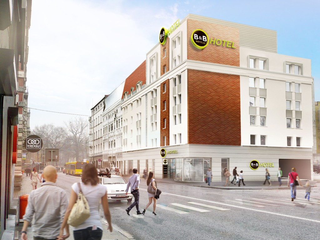 © B&B Hotels Poland; visualization of the B&B Hotel in Katowice