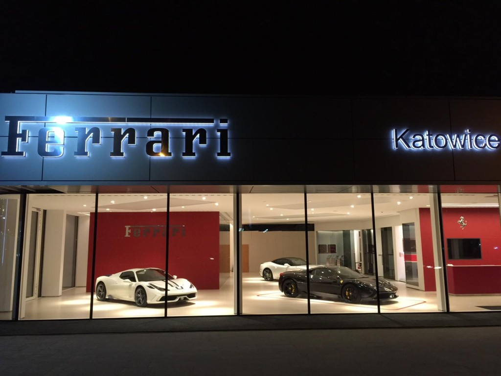 grupa pietrzak concluded extension of ferrari showroom katowice the city. Black Bedroom Furniture Sets. Home Design Ideas