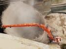 51-meter high reach excavator will be used to demolish DOKP