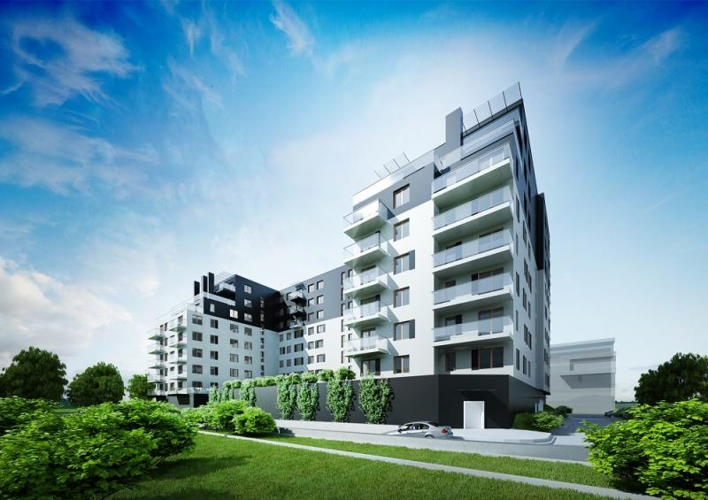 © HM Inwest; residential building to be erected on Pułaskiego St.