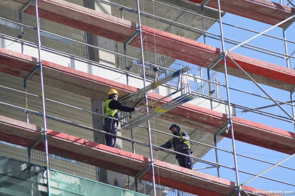 Construction work on Silesia Business Park