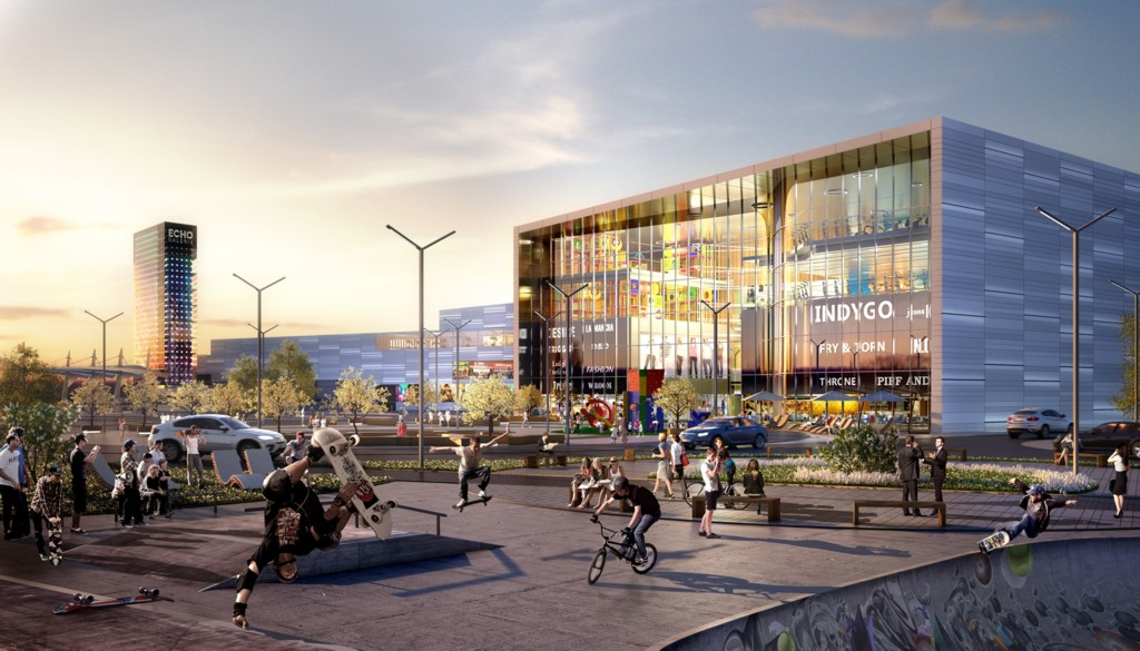 © Echo Investment; visualization of new shopping and entertainment center in Katowice