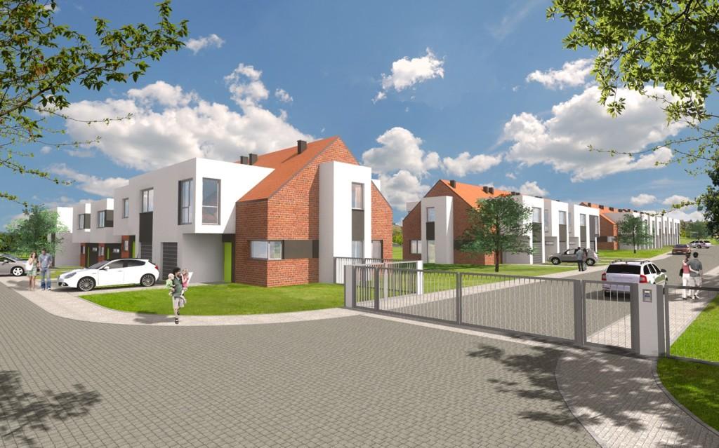 © Millenium Inwestycje; new housing project on Mleczna St.