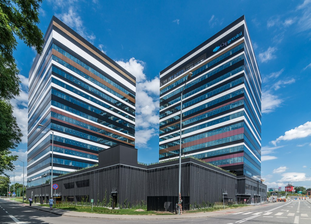 © Skanska Property Poland; first two buildings of Silesia Business Park