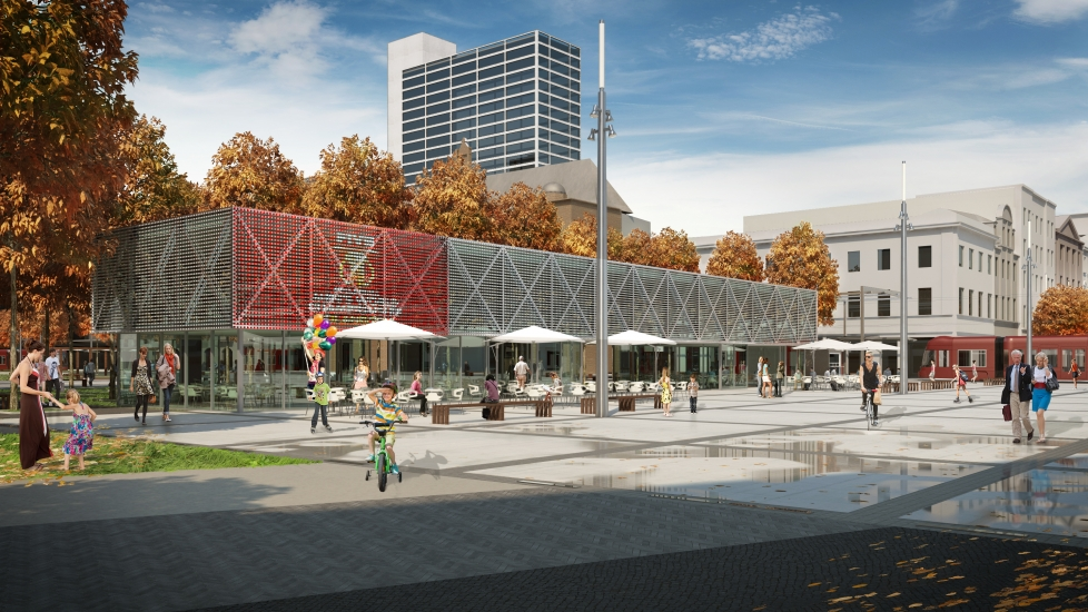 © City Hall of Katowice; C4 pavilion, visualization released by the City Hall in 2014