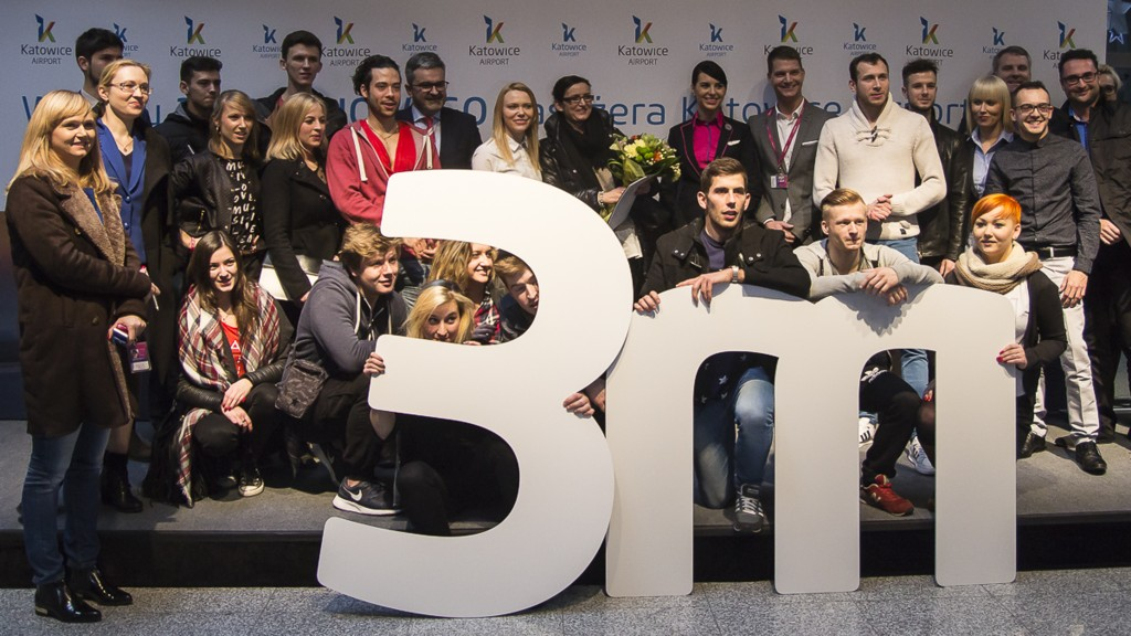 © GTL; Katowice International Airport celebrates the 3-millionth passenger