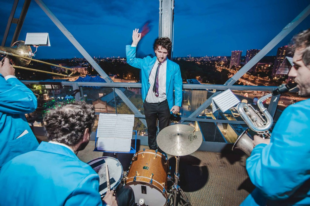 © City of Gardens; music concert at the top of the former Warszawa mine shaft (part of Silesian Museum)