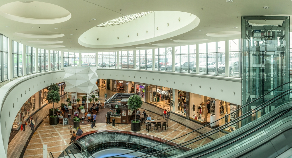 © Silesia City Center; one of passages in the shopping center