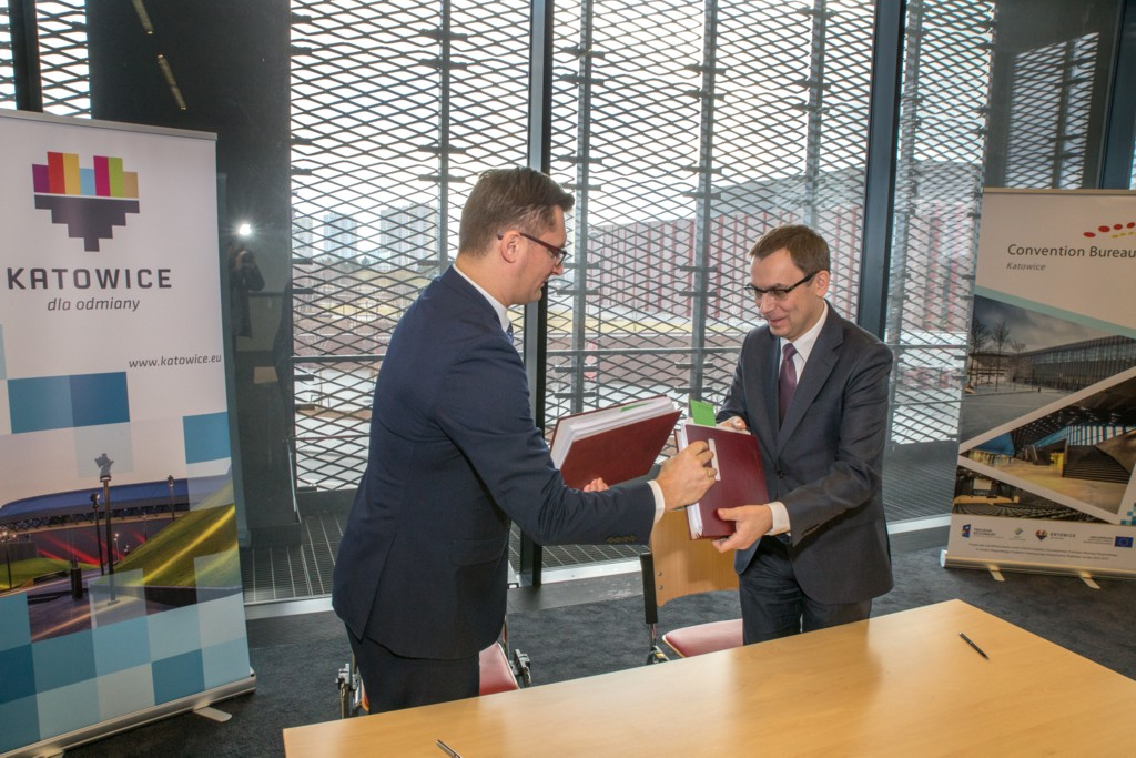© City Hall of Katowice; Marcin Krupa and Wojciech Kuśpik signed the agreement in the International Convention Center