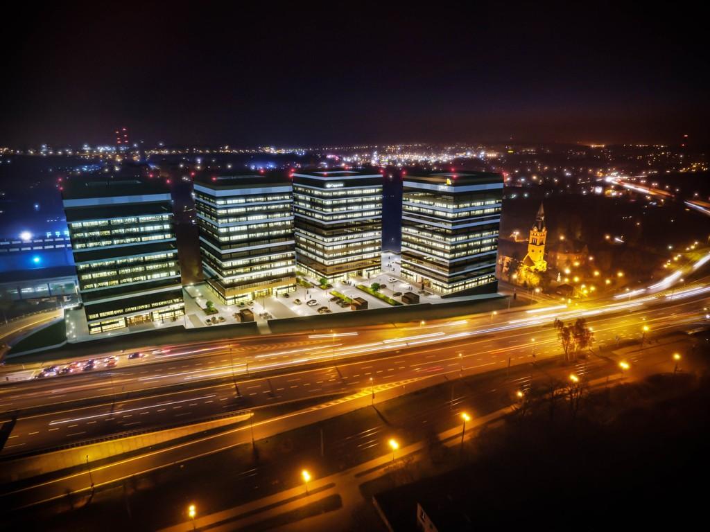 © Skanska Property Poland; visualization of Silesia Business Park
