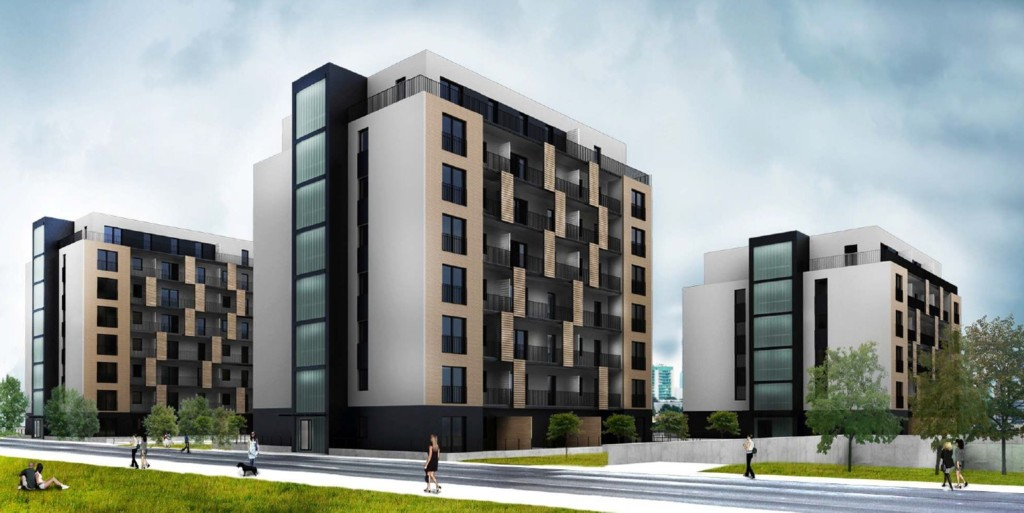 © Hollybrook; housing estate planned by Hollybrook on Ściegiennego St.