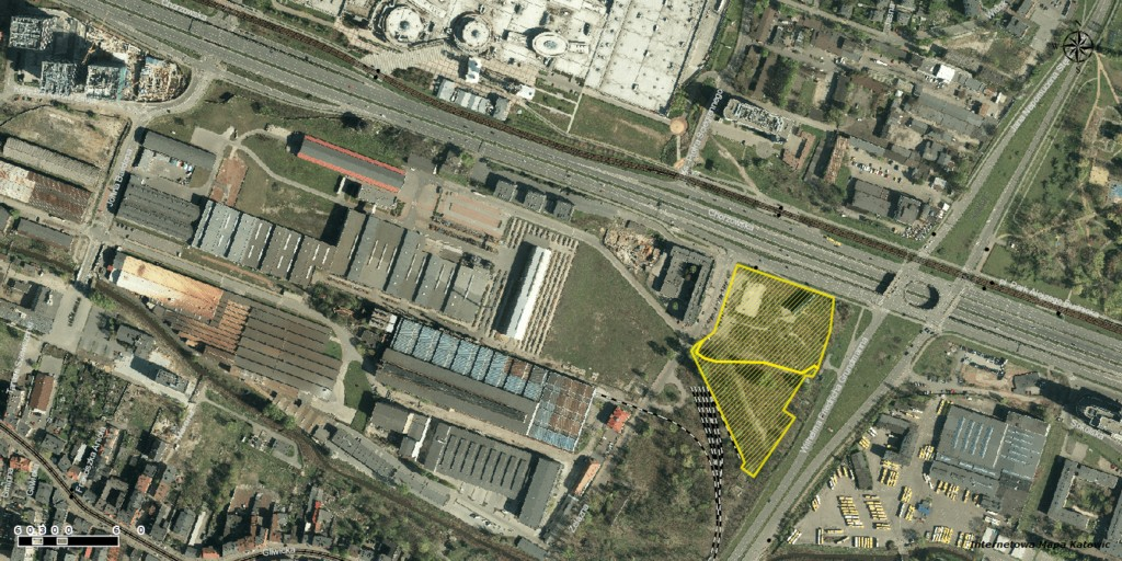 © City Hall of Katowice; plots purchased by Echo Investment in the area of Żelazna, Chorzowska and Grundmanna streets